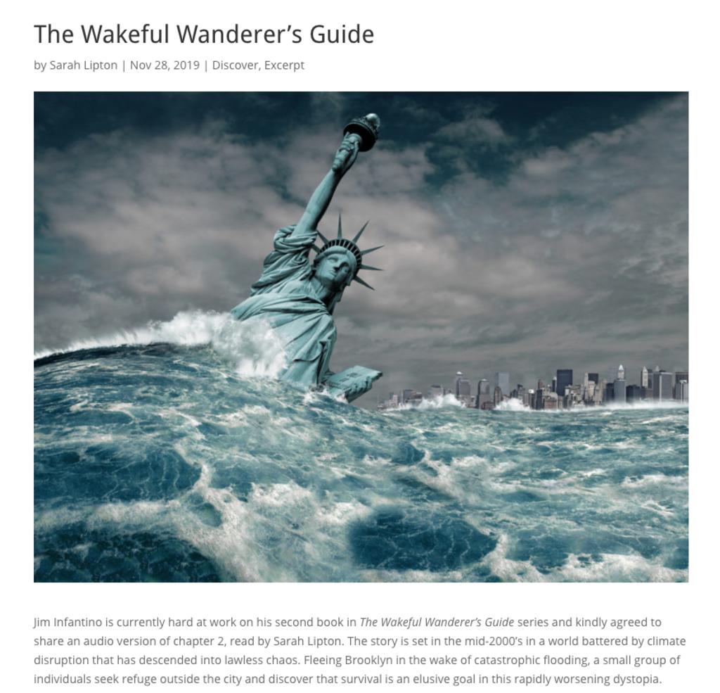 screenshot of wakeful wanderer039s guide page on epublishyourself